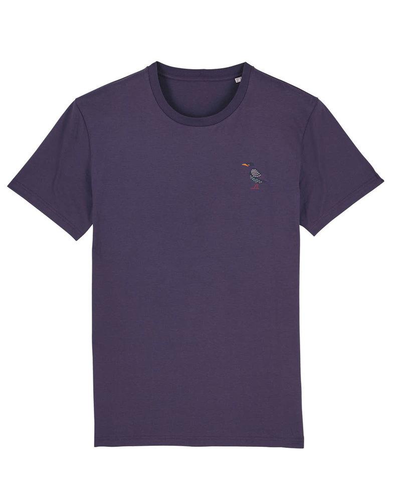 Oizeau Bio T-shirt spreeuw paars limited edition