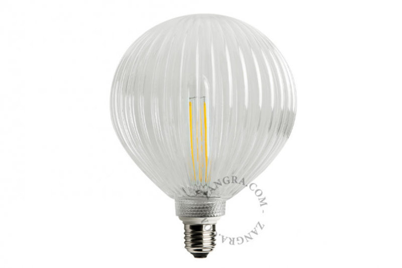 Zangra Lightbulb.lf.006.01.125 kooldraad LED lamp – helder glas lijntjes