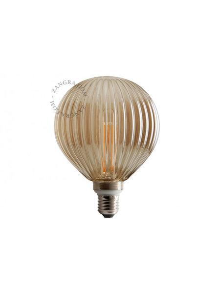 Zangra Lightbulb.lf.006.01.125 kooldraad LED lamp – rookglas lijntjes