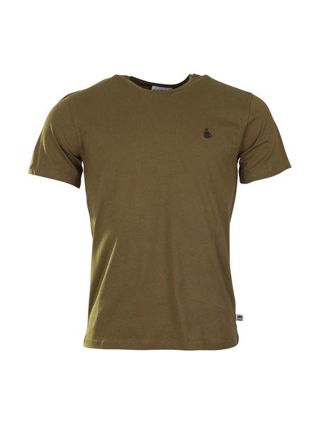 Munoman T-shirt johan coffee olive