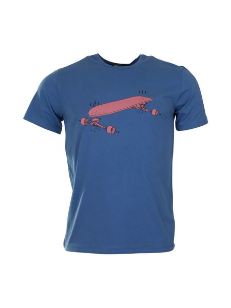 Munoman Bio t-shirt tito longboard teal
