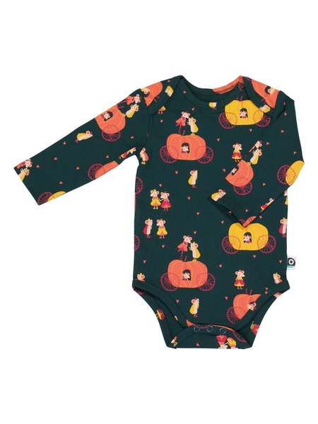 Onno lulu Body long sleeves pumpkin 74/80 biokatoen
