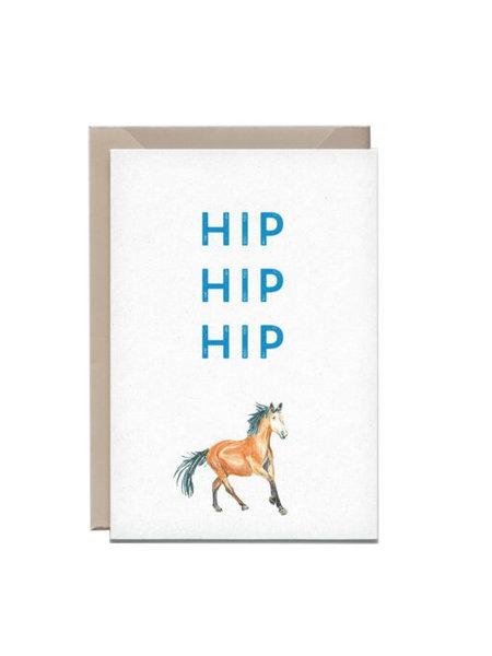 Kathings Wenskaart paard hip hip hip