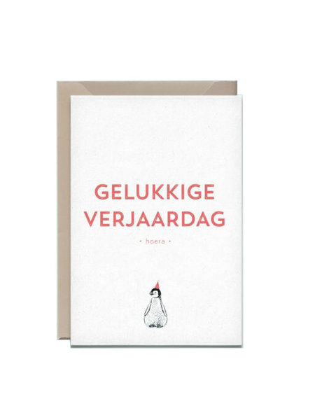 Kathings Wenskaart pinguin gelukkige verjaardag
