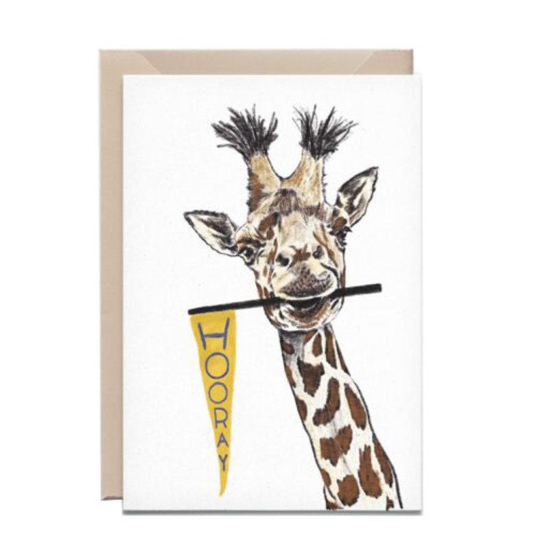 Kathings Wenskaart giraf hooray