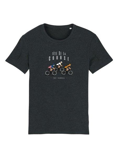 The Vandal Bio T-shirt tête de la course donkergrijs
