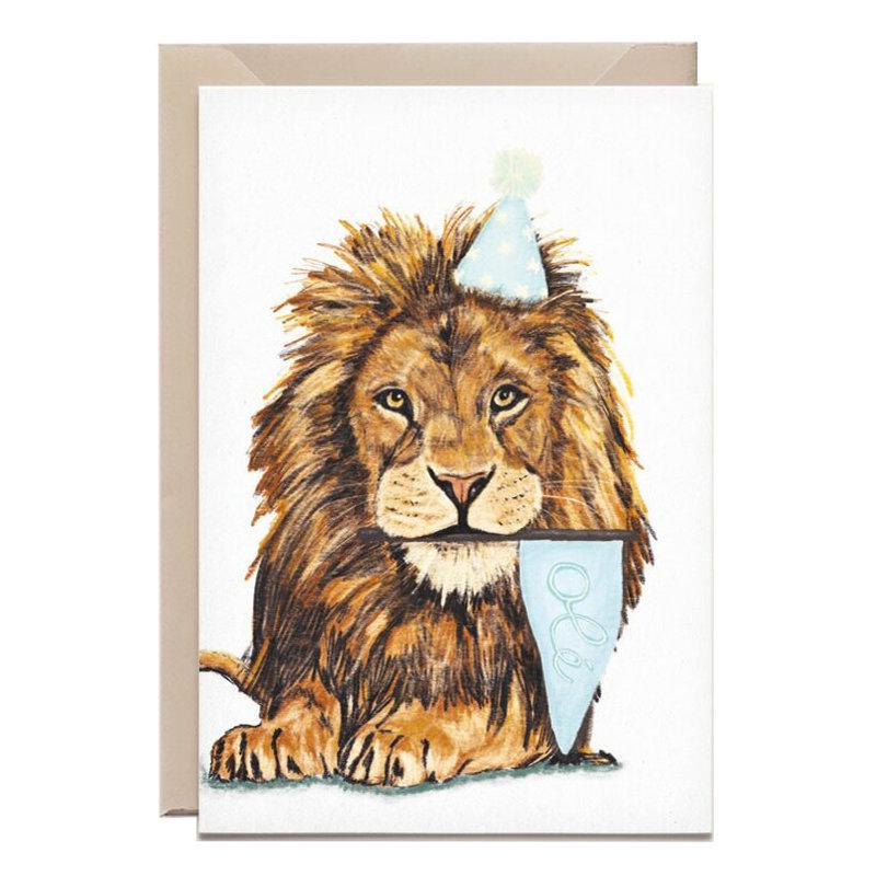 Kathings Wenskaart lion olé