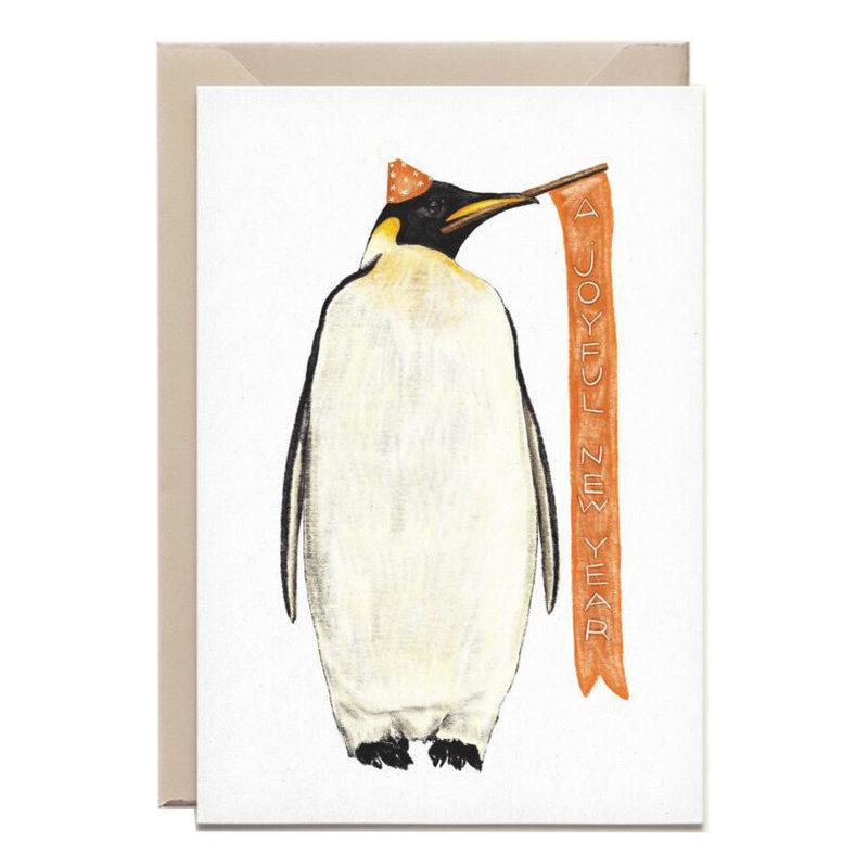Kathings Wenskaart penguin new year