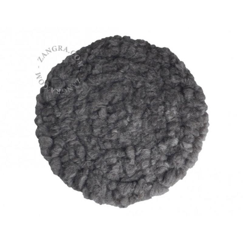 Zangra Wollen stoelkussen grijs