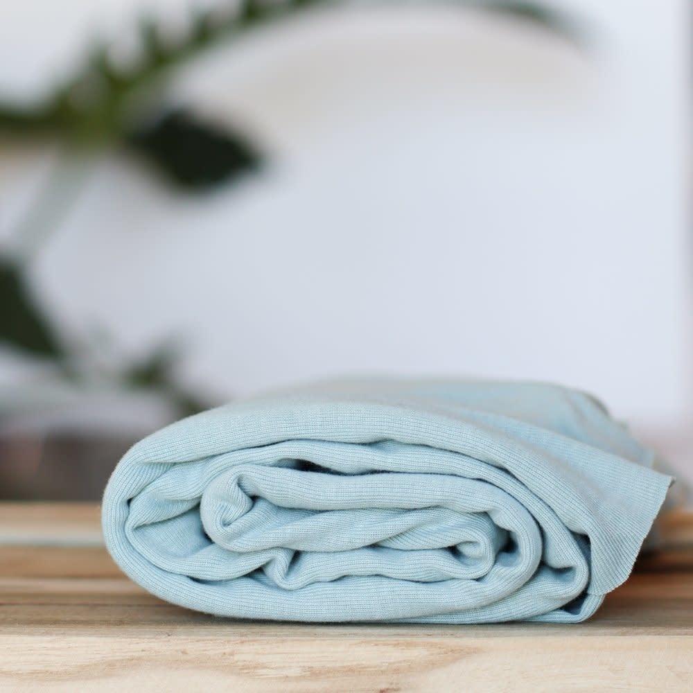 Fine rib Tricot GOTS - Blue Mist-1