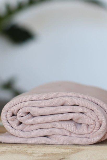 Fine rib Tricot GOTS - Powder Pink