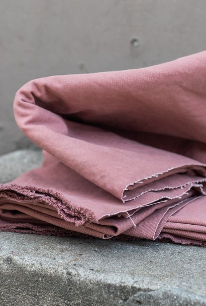 Heavy Washed Canvas 17 oz - Pale Pink