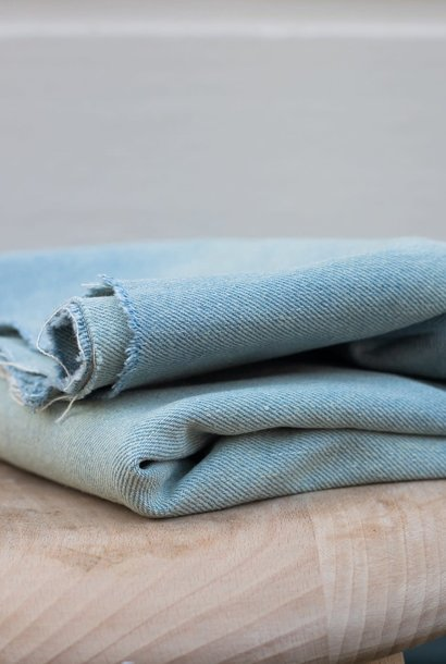 Heavy Washed Denim 12,5 oz - Light Blue