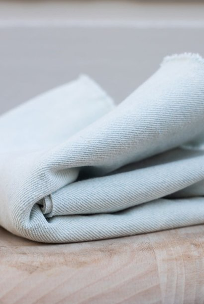 Heavy Washed Denim 12,5 oz - Bleach Blue