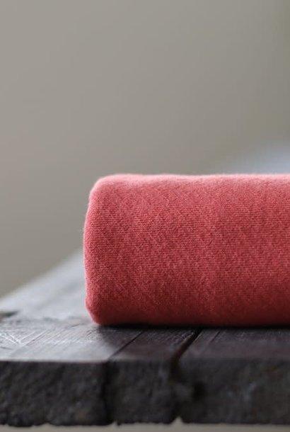 Organic Bias Interlock - Russet Red