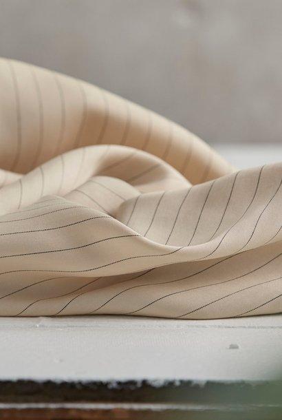 Pinstripe Twill - Ivory