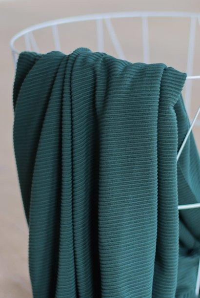 Self-stripe Ottoman Knit - Deep Green