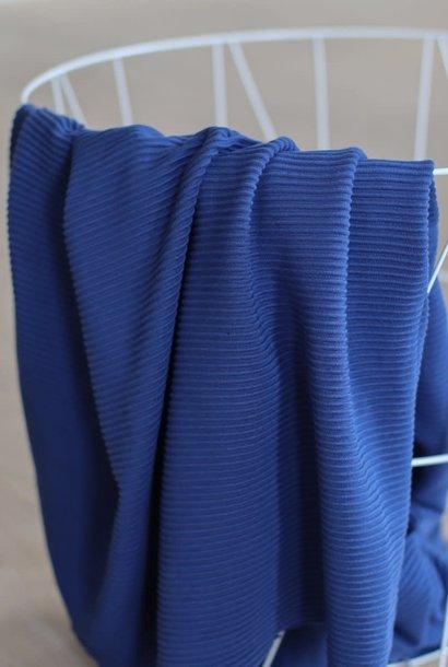 Self-stripe Ottoman Knit - Lapis
