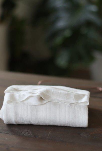 Trim Knit Viscose - White Sand