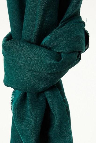 Nisa Softened Linen - Bottle Green