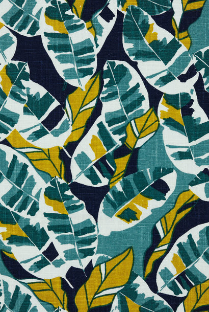 Linnen - Washed Leaves - Green