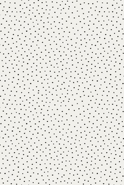 Cotton Slub - Washed Dots - Ecru