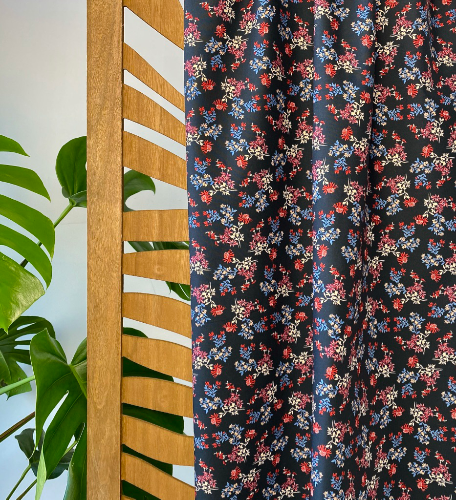 Katoen (stretch) - Gedroogde bloemenprint-1