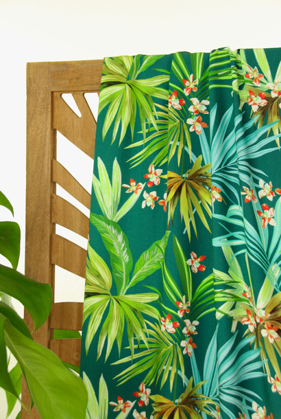 Viscose - Tropische palmbladeren