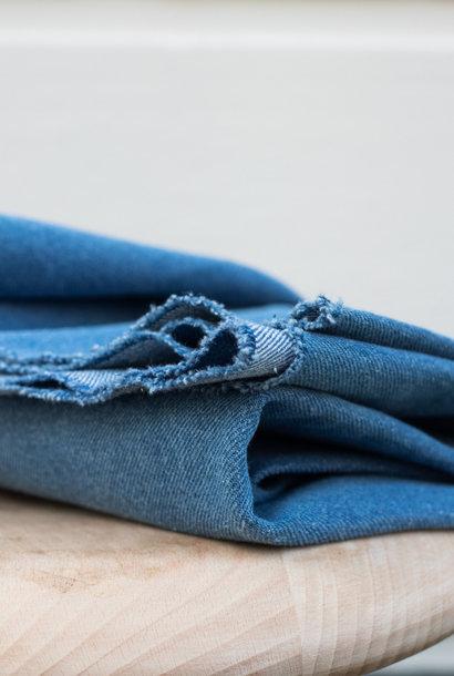 Heavy Washed Denim 12,5 oz - Mid Blue