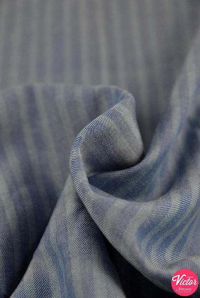 Tencel (gestreept) - Jeans ton sur ton