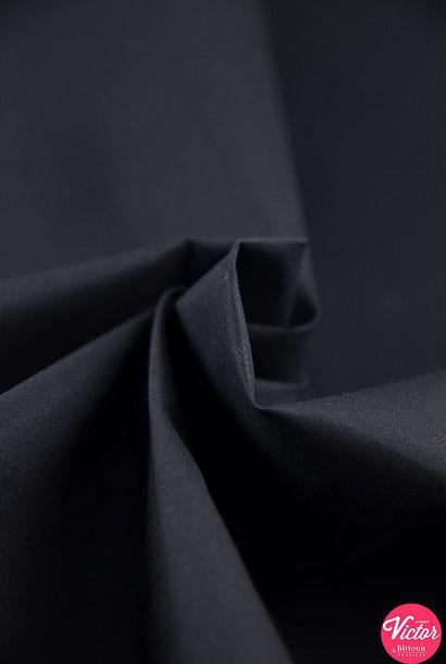 Katoen (stretch) - Donkerblauw