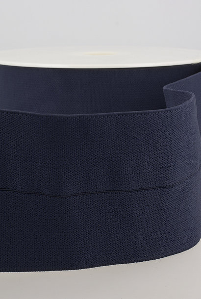 Taille-elastiek (voorgevouwen) - Donkerblauw
