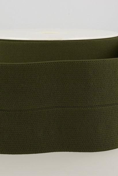 Taille-elastiek (voorgevouwen) - Kaki