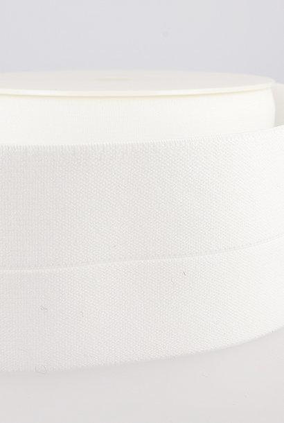 Taille-elastiek (voorgevouwen) - Wit