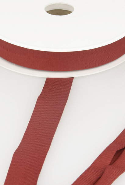 Tricot Biais - 20 mm - Baksteenrood