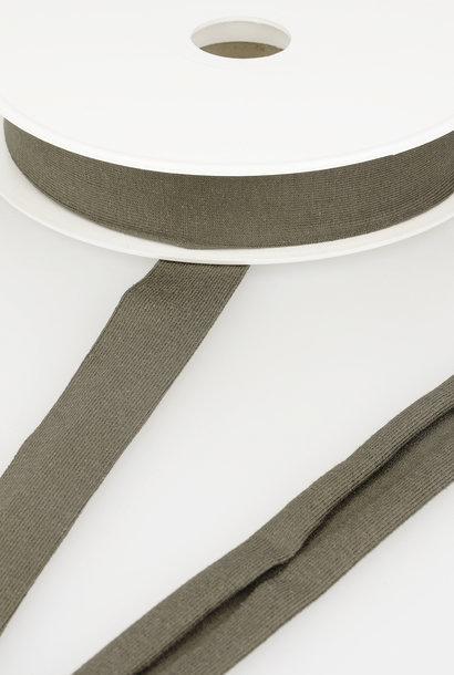 Tricot Biais - 20 mm - Donker Kakibruin