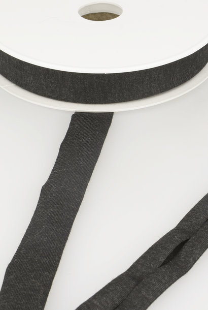 Tricot Biais - 20 mm - Donkergrijs