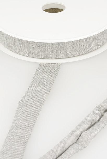 Tricot Biais - 20 mm - Lichtgrijs