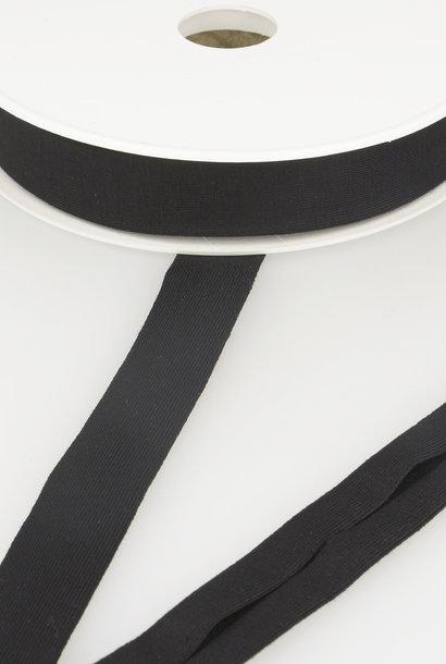 Tricot Biais - 20 mm - Zwart