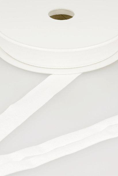 Tricot Biais - 20 mm - Wit