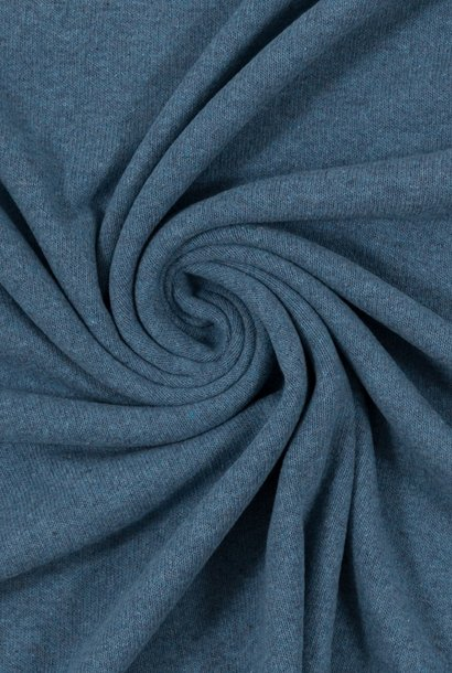 Tricot - fijn gebreid - Jeansblauw mélange