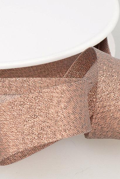 Biais Metallic - 18 mm - Rosé Goud