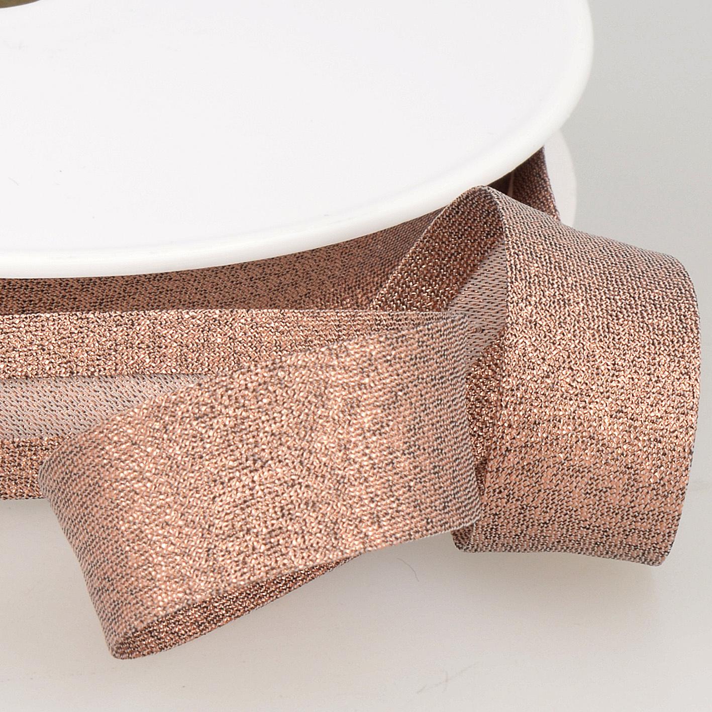 Biais Metallic - 18 mm - Rosé Goud-1