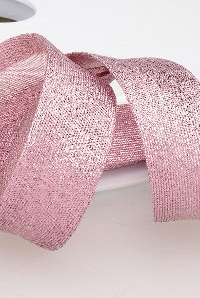 Biais Metallic - 18 mm - Roze