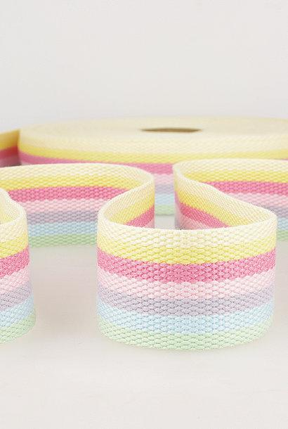 Tassenband (gestreept) - Pastel