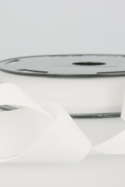 Keperband - 25 mm - Wit
