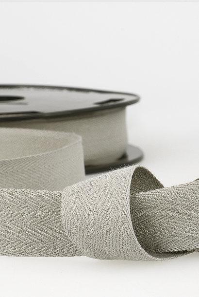 Keperband - 14 mm - Muisgrijs