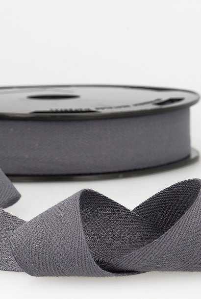 Keperband - 14 mm - Donkergrijs