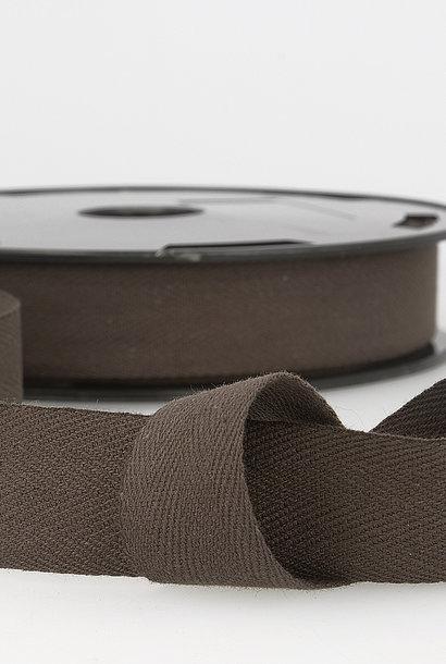 Keperband - 14 mm - Chocoladebruin