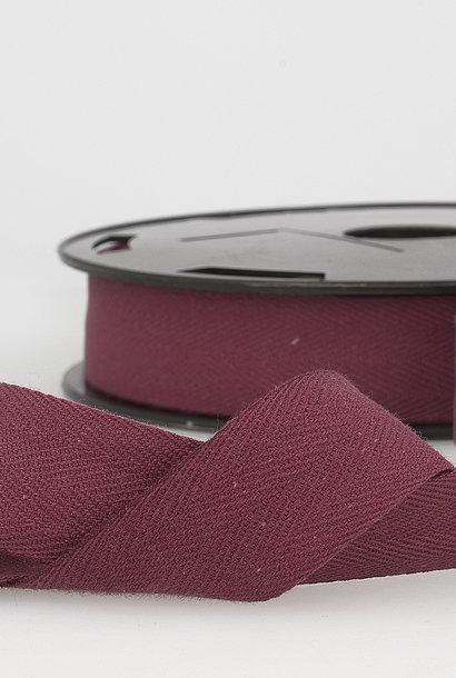 Keperband - 14 mm - Wijnrood
